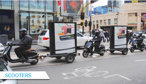 Scooters, Bus Billboard Advertising