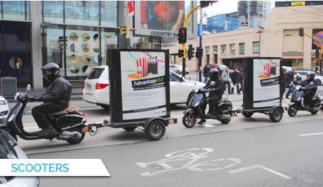 Scooters, Bus Billboard Advertising